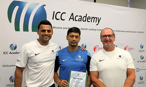 Swapnil Karekar ICC Level 1 Coach Certification